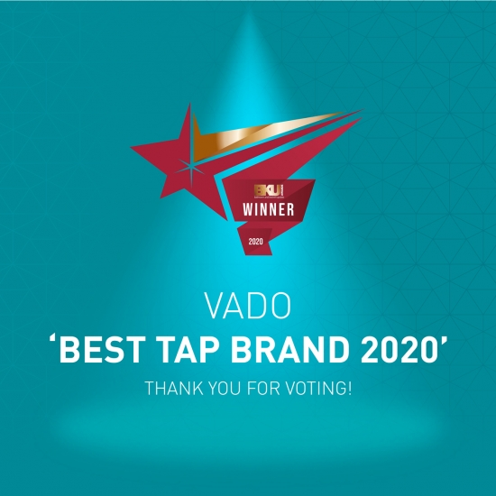 VADO Wins Best Bathroom Tap Brand Award