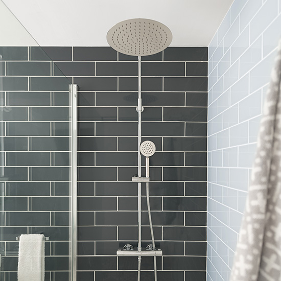 Lifestyle Photograph for an Aquablade Thermostatic Shower Column