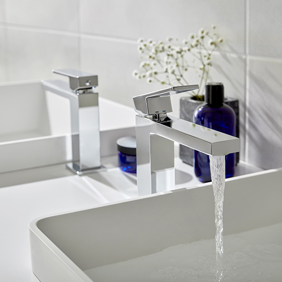 Lifestyle Photograph Featuring a Notion Slimline Mono Basin Mixer Tap