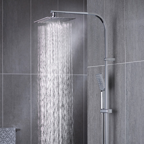 Lifestyle Photograph Featuring a Phase Thermostatic Shower Column