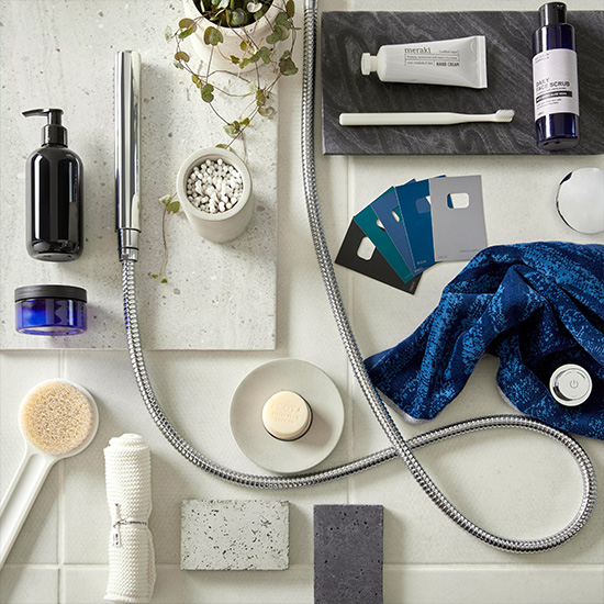 Lifestyle Flatlay Photograph featuring assorted VADO product