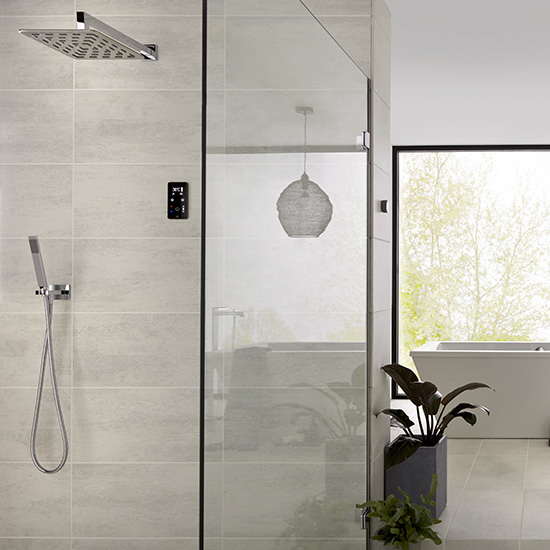 Lifestyle Photograph Featuring a Sensori SmartTouch 2 Outlet Digital Showering Package