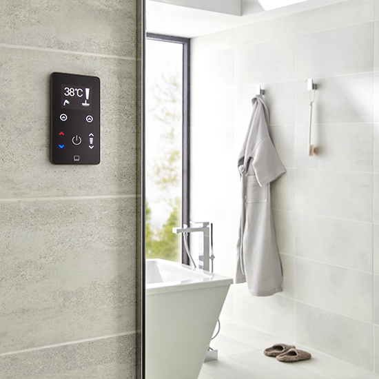 Lifestyle Photograph Featuring a Sensori SmartTouch 2 Outlet Shower Control