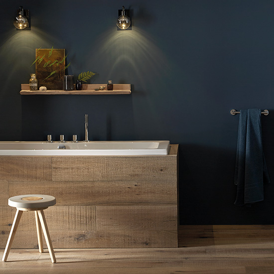 Lifestyle Photograph Featuring Zoo and Spa in a Contemporary Bathroom Space