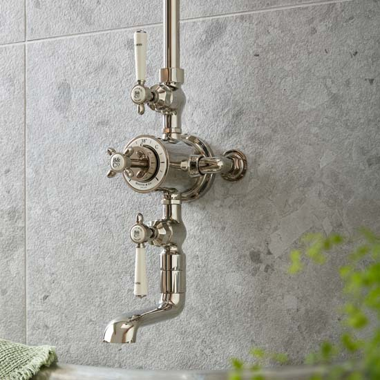 Lifestyle Photograph featuring a BOOTH & Co. Axbridge Thermostatic Bath/Shower Column