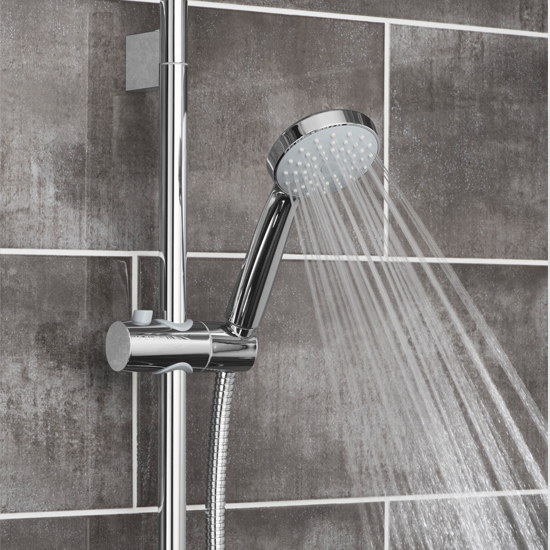 Lifestyle Photograph for a Eris Single Function Slide Rail Shower Kit
