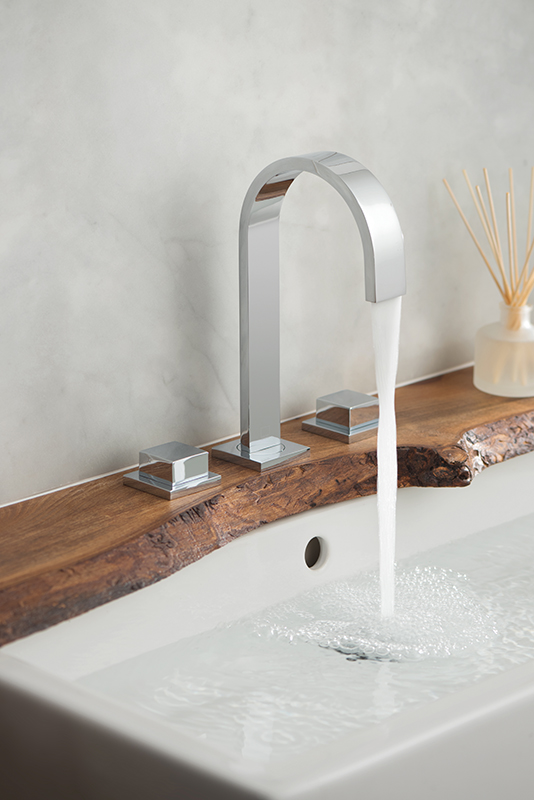 Lifestyle Photograph for a Geo Deck Mounted Basin Mixer Tap