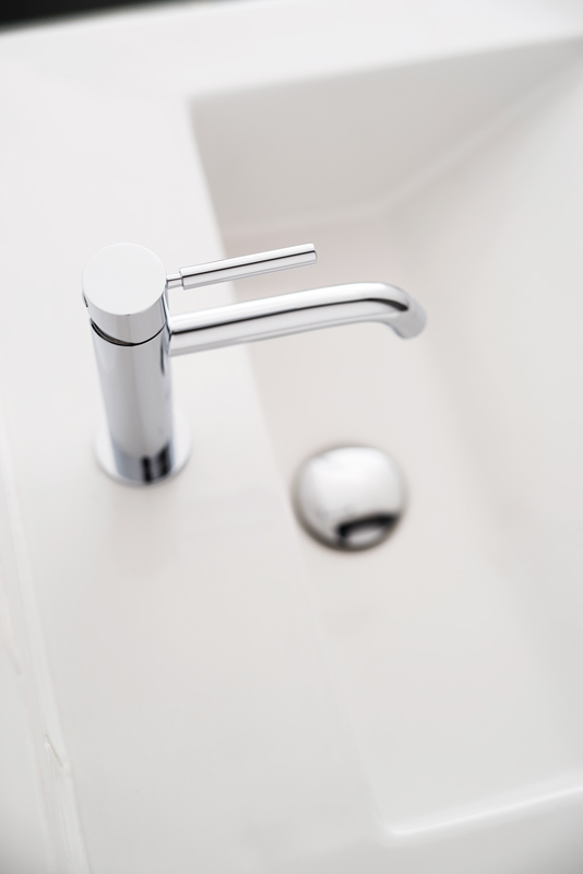 Lifestyle Photograph for an Origins Slimline Mono Basin Mixer Tap