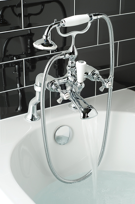 Lifestyle Photograph Featuring a Kensington Bath Shower Mixer Tap