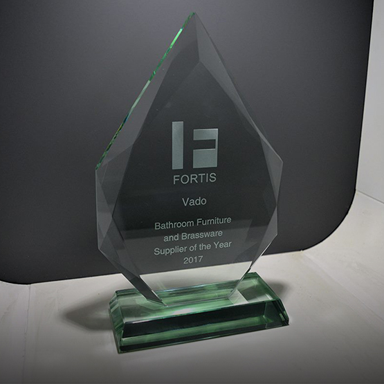 Photo of the Fortis Bathroom Furniture and Brassware Supplkier of the Year Award 2017 (VADO)