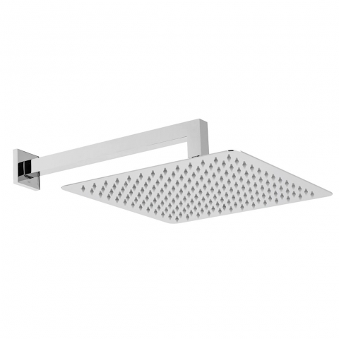 Product Photograph for an Aquablade Square 300mm Shower Head with Wall Mounted Shower Arm