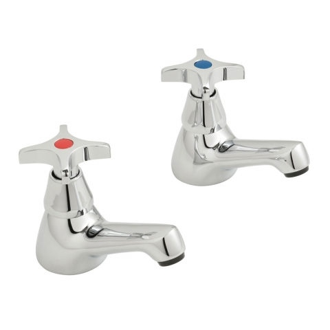 Product Photograph for a pair of Astra Cross Basin Pillar Taps
