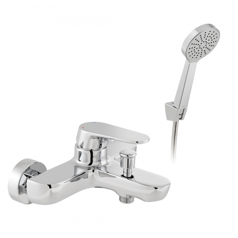 Product Photograph for an Axces by VADO Ava Wall Mounted Bath Shower Mixer with Shower Kit