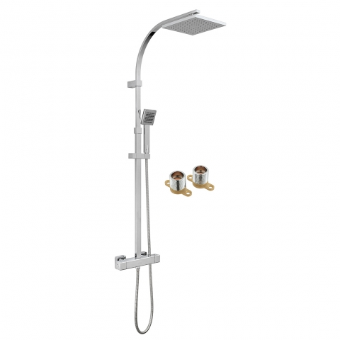 Product Photograph for an Axces by VADO Bokx Exposed Thermostatic Shower Column