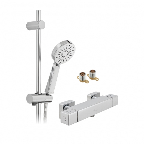 Product Photograph for an Axces by VADO Bokx Multi Function Exposed Thermostatic Shower Package