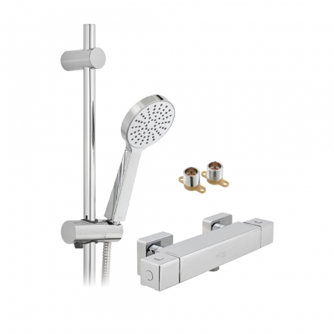 Product Photograph for an Axces by VADO Bokx Single Function Exposed Thermostatic Shower Package