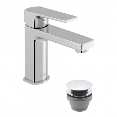 Product Photograph for an Axces by VADO Ekko Mono Basin Mixer Tap with Push Waste