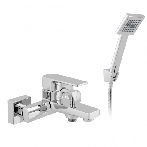 Product Photograph for an Axces by VADO Ekko Wall Mounted Bath Shower Mixer with Shower Kit