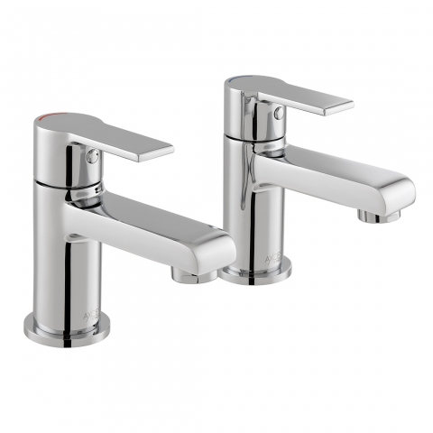 Product Photograph for a pair of Axces by VADO Irlo Bath Pillar Taps