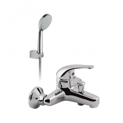 Product Photograph for an Axces by VADO Matrix Wall Mounted Bath Shower Mixer with Kit