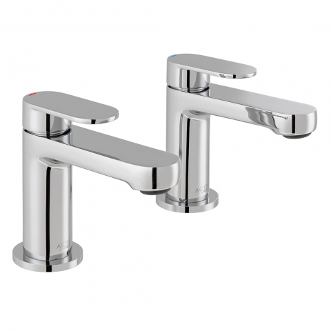 Product Photograph for a pair of Axces by VADO Metiz Basin Pillar Taps
