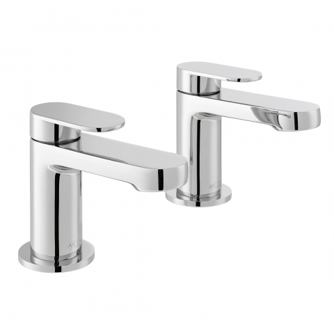 Product Photograph for a pair of Axces by VADO Metiz Bath Pillar Taps