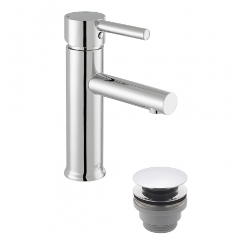 Product Photograph for an Axces by VADO Nuri Mono Basin Mixer Tap with Push Waste