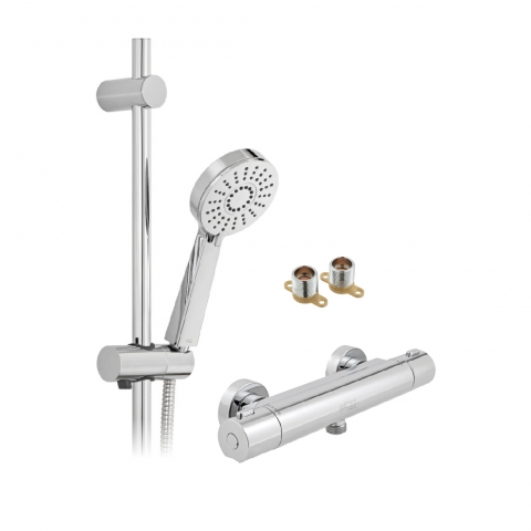 Product Photograph for an Axces by VADO Sirkel Exposed Thermostatic Shower Package