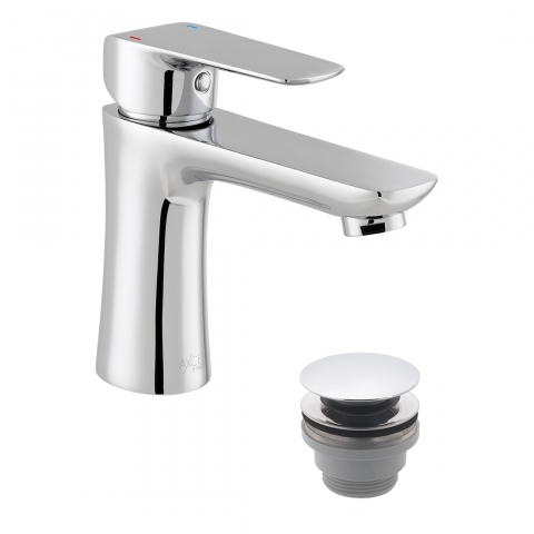 Product Photograph for an Axces by VADO Vala Mono Basin Mixer Tap with Push Waste