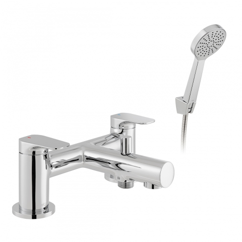 Product Photograph for an Axces by VADO Vala Bath Shower Mixer with Shower Kit