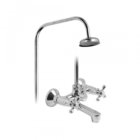 Product Photograph for an Axces by VADO Victoriana Wall Mounted Bath Shower Mixer with Rigid Riser Kit