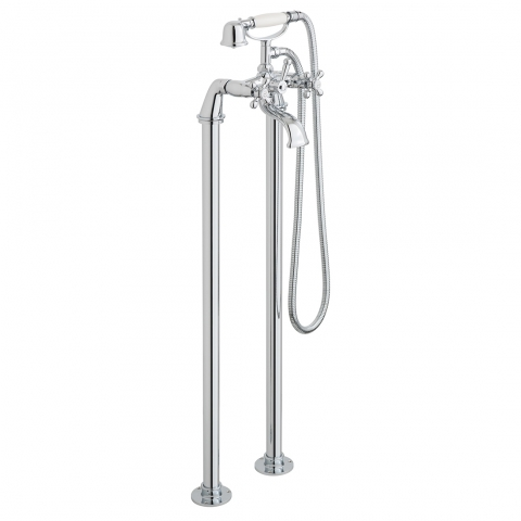 Product Photograph for an Axces by VADO Victoriana Floor Standing Bath Shower Mixer with Shower Kit