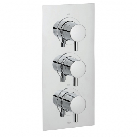 Product Photograph for a DX Celsius 2 Outlet 3 Handle Concealed Thermostatic Shower Valve
