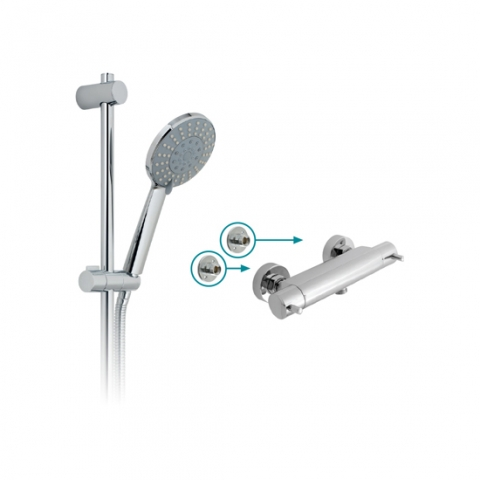Exposed Thermostatic Shower Set