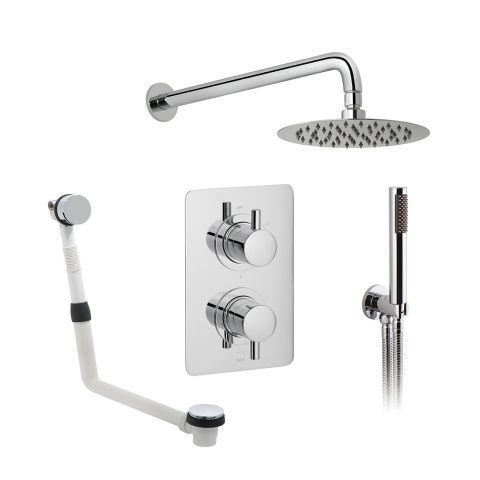 3 Outlet Thermostatic Shower Set