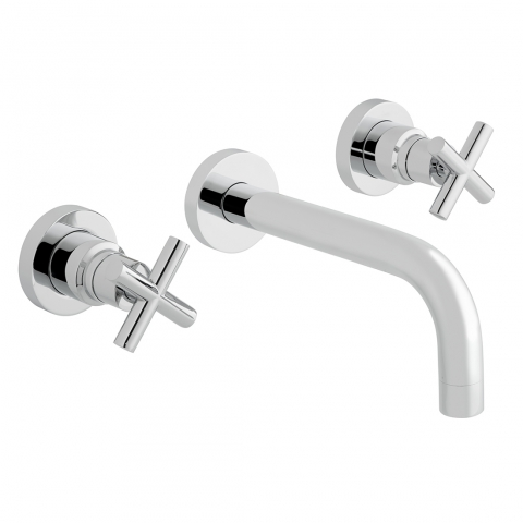 3 Hole Wall Mounted Bath Mixer
