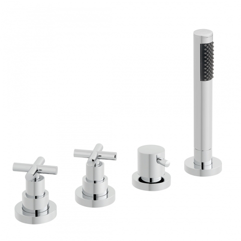 Product Photograph for an Elements 4 Hole Deck Mounted Bath Shower Mixer (No Spout)