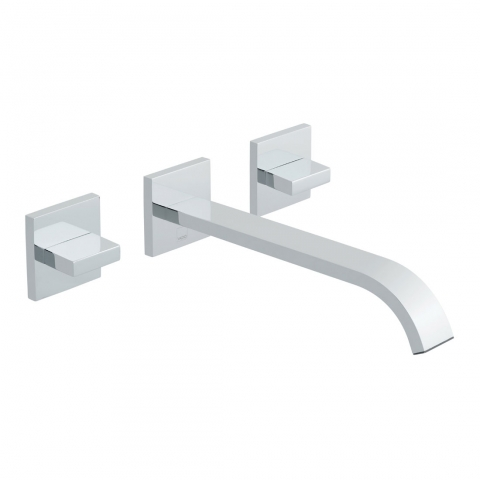 3 Hole Wall Mounted Basin Mixer