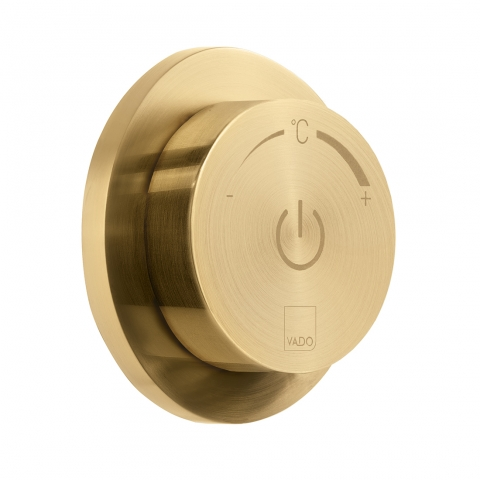 Product Photograph for an Individual by VADO Brushed Gold Sensori SmartDial 1 Outlet Digital Control