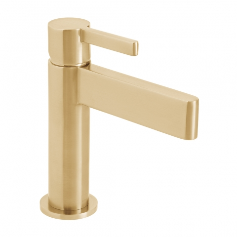 Product Photograph for an Individual by VADO Brushed Gold Edit Mono Basin Mixer Tap