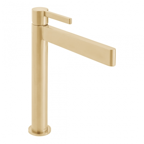 Product Photograph for an Individual by VADO Brushed Gold Edit Extended Mono Basin Mixer Tap