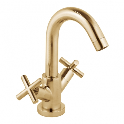 Product Photograph for an Individual by VADO Brushed Gold Elements Mono Basin Mixer Tap