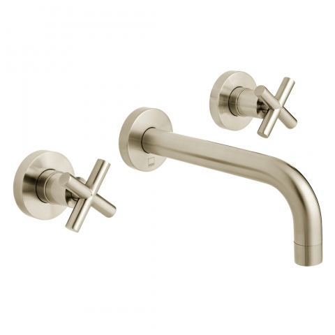 Product Photograph for an Individual by VADO Brushed Nickel Elements Wall Mounted Basin Mixer Tap
