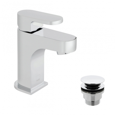 Product Photograph of a Life Mini Mono Basin Mixer Tap with Universal Waste
