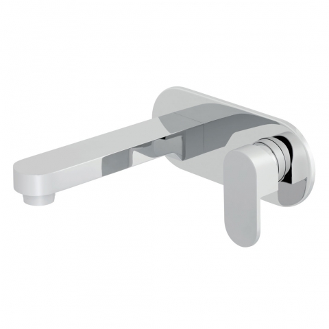 Product Photograph of a Life Wall Mounted Basin Mixer Tap with 200mm Spout