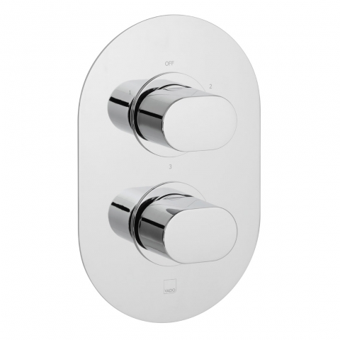 Product Photograph for a Life 3 Outlet 2 Handle Thermostatic Shower Valve