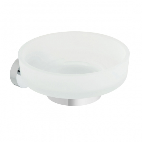 Product Photograph for a Life Frosted Glass Soap Dish and Holder