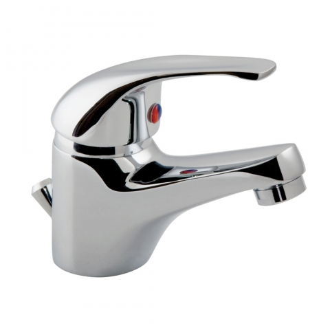 Product Photograph for a Matrix Mono Basin Mixer Tap with Pop-up Waste