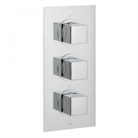 Product Photograph for a DX Mix 2 Outlet 3 Handle Concealed Thermostatic Shower Valve