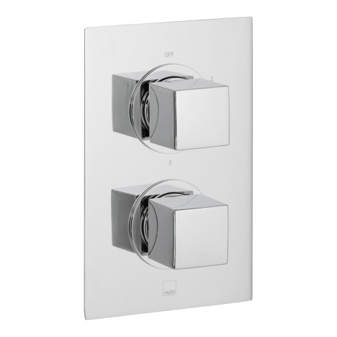 Product Photograph for a DX Mix 3 Outlet 2 Handle Concealed Thermostatic Shower Valve